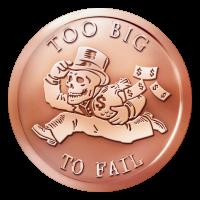 1 oz 2015 Too Big to Fail Copper Round
