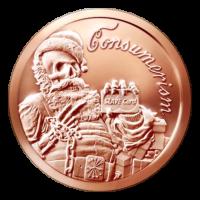 1 oz 2015 Consumerism Copper Round