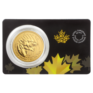 1 oz 2015 Call of the Wild Series | Growling Cougar Gold Coin