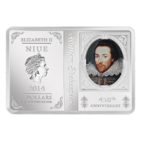 1 oz 2014 450th Anniversary of Shakespeare Silver Proof Coin