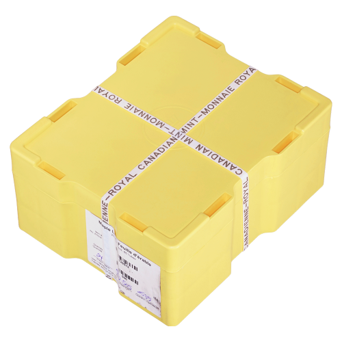 Empty Yellow Monster Box for 3/4 oz to 1.5 oz RCM Silver Coins