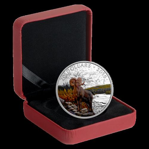 1 oz 2015 Big Horn Schaap Zilveren Munt