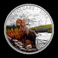 1 oz 2015 Big Horn Sheep Silver Coin