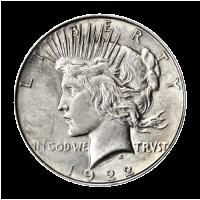 Random Year Peace Dollar VG Silver Coin