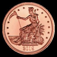 1 oz Zombucks Slayed Dollar Copper Round