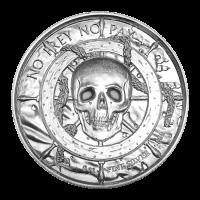 Colección Corsario de 2 oz / Ronda de plata Corsario de ultra altorelieve