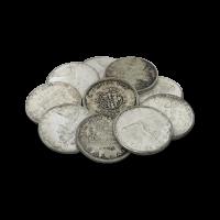 $10 Silbermünzen in einem Beutel, in Kanada im Umlauf 80% reines Silber
