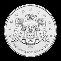 1 oz 2009 Olympic Thunderbird Totem Silver Coin