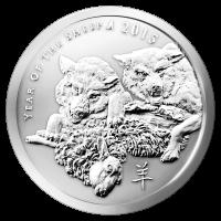 Ronda de plata Año de la Cabra de Silver Shield 2015 de 2 oz