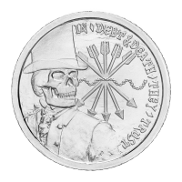 1 oz 2012 Debt and Death Silver Special BU Proof Round | Chris Duane Personal Collection