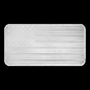 10 oz Silvertowne American Flag Silver Bar
