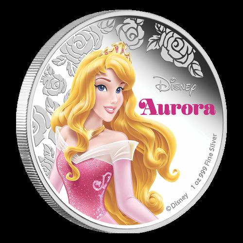 1 oz 2015 Disney Princess Aurora Silver Coin