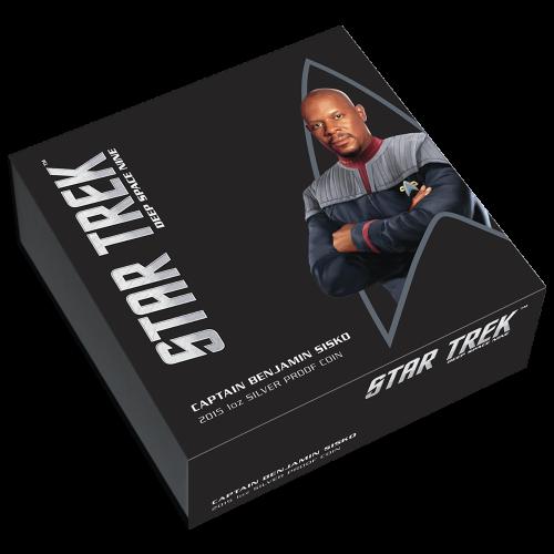 1 oz Silbermünze - Star Trek Captain Benjamin Sisko - 2015 Polierte Platte
