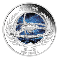 Moneda de Plata Proof Star Trek Espacio Profundo Nueve| DS9 2015 1oz