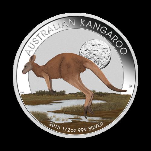 "Coin 1: Australian Kangaroo | Coin 2: Australian Kookaburra | Coin 3: Australian Koala and the words ""2015 1/2 oz 999 Silver"""