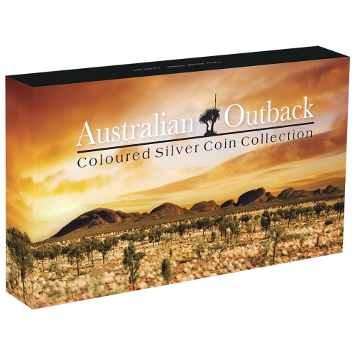 Set of 3 x 1/2 oz 2015 Australian Outback Coloured Silver Proof Coins