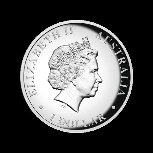 1 oz 2015 Australian Kangaroo High Relief Silver Proof Coin