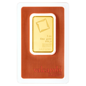 1 oz Valcambi Gold Bar