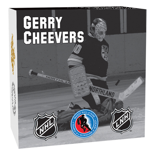 1/2 oz 2015 Goalies | Gerry Cheevers Silver Proof Coin