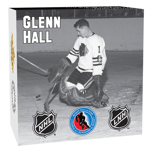 1/2 oz 2015 Goalies | Glenn Hall Silver Proof Coin