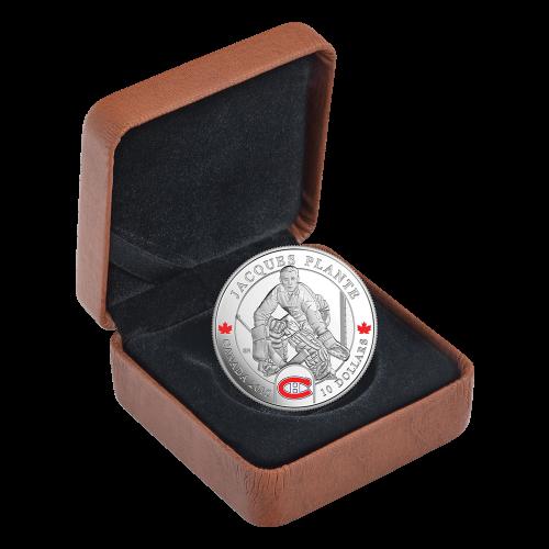 1/2 oz 2015 Goalies | Jacques Plante Silver Proof Coin