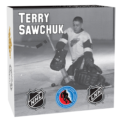 1/2 oz 2015 Goalies | Terry Sawchuk Silver Proof Coin