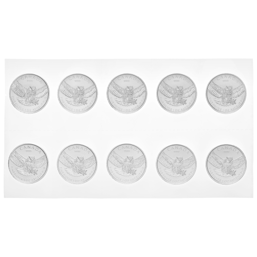 1 oz 2015 Birds of Prey Series | Great Horned Owl Flex Sealed Silver Coin