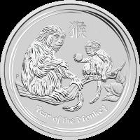 Moneda de Plata Año Lunar del Mono de la Casa de la Moneda de Perth 2016 de 1 kilo