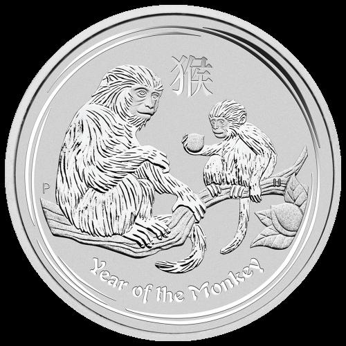 "Effigy of Queen Elizabeth II with the words ""Elizabeth II Australia 8 Dollars 5 oz 999 Silver 2016"""