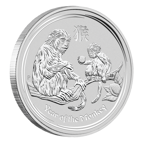 1 oz 2016 Perth Mint Lunar Year of the Monkey Silver Coin