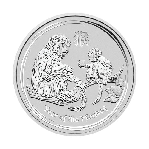 "Effigy of Queen Elizabeth II with the words ""Elizabeth II Australia 50 Cents 1/2 oz 999 Silver 2016"""