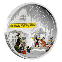 1 oz 2015 Disney Classic Season's Greetings Silver Proof Coin