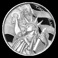 2 oz American Landmarks Series | Liberty Island Ultra High Relief Silver Round