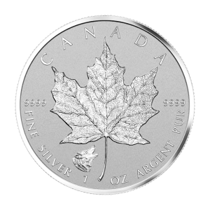 1 oz 2016 Canadian Maple Leaf Wolf Privy Silver Coin