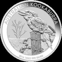 1 kg 2016 Australian Kookaburra Silver Coin