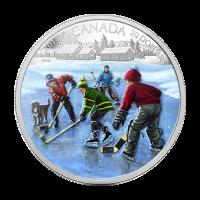 Moneda de Plata Proof Estanque de Hockey 2014 de 1 oz