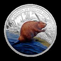 Moneda de Plata Proof Castor Trabajando 2015 de 1 oz