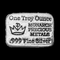 1 oz Monarch Precious Metals Hand Poured Silver Bar