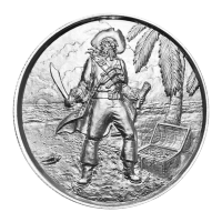 2 oz Privateer Collection | Pirate Captain Ultra High Relief Silver Round