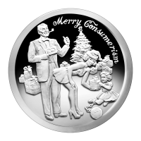 1 oz 2015 Merry Consumerism Zilveren Proof-like Plak