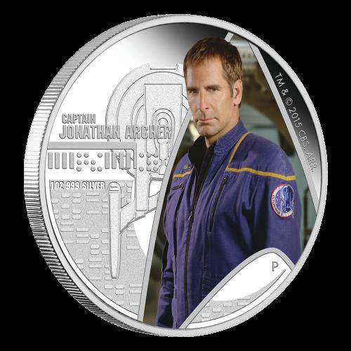 1 oz 2015 Star Trek Kapitein Jonathan Archer Zilveren Proof Munt
