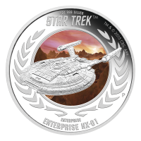 1 oz 2015 Star Trek USS Enterprise NX-01 Silver Proof Coin