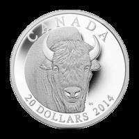 Moneda de Plata Proof El Bisonte: Un Portarretrato 2014 de 1 oz
