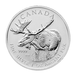 1 oz 2012 Canadian Moose Sølvmynt