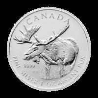 1 oz Silbermünze - kanadischer Elch - 2012