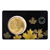 1 oz 2015 Canadian Maple Leaf Gold Coin in Certicard