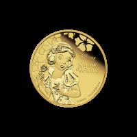 1/4 oz 2015 Disney Princess Snow White Gold Proof Coin