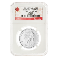 1/2 oz 2015 Calgary Stampede MS-69 Canada Label (Early Releases) Silver Coin