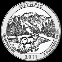 Moneda de Plata América la Hermosa | Parque Nacional Olímpico 2011 de 5 oz