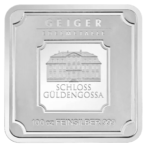 100 oz Geiger Edelmetalle Silver Bar
